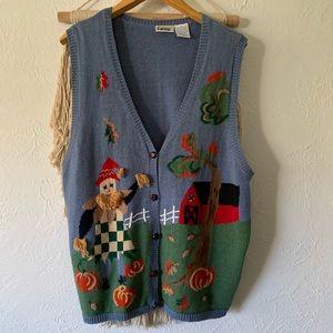 Vintage Fall Festival Sweater Vest